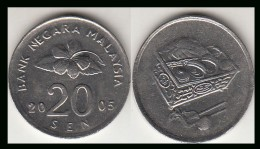 Malesia 20 Sen 2005 Km52 - Used - Malesia