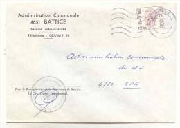 Commune De BATTICE - Enveloppe Affranchie 3,25 Frs  *COB 1753* - Oblitération HERVE - Poststempels/ Marcofilie