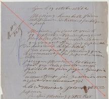 Courrier 1862 Chemins De Fer Ligne D´italie Simplon Bas Valais Rolland Horticulteur Brotteaux - Documents Historiques