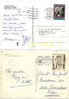 5 POSTCARTS WITH DIFFERENT STAMPS SEE SCAN(S) - 1945-.... 2ème République