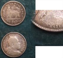 M_p> Etiopia GERSH ( 1/20 Birr ) 1895 ( 1903 ) Bella Conservazione , In Argento - Etiopia