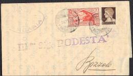 PIEGO DA MARCARIA A BOZZOLO - FRANCOBOLLO BIMILLENARIO VIRGILIO 20 C. + IMPERIALE 10 C. - 16-11-1930 - SASSONE 283 + 245 - 1900-44 Victor Emmanuel III