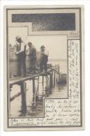 11303 -  Les Pêcheurs Dans Le Port Réparant Les Filets Barque - Pêche