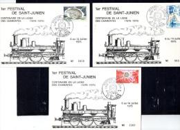 SAINT JUNIEN 1975 - 1� festival CENTENAIRE DE LA LIGNE DES CHARENTES - 5 cartes