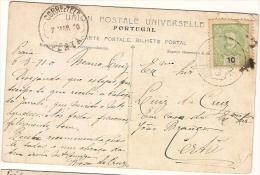 Portugal &  Bilhete Postal ,Palácio Hotel, Vestibulo, Sertã, Golegã 1910 (147) - 1892-1898 : D.Carlos I