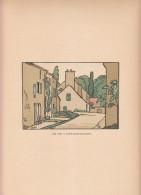 1920 - Une Rue à Saint-Ouen-sur-Morin - Bois Gravé De Georges DELAW (1871-1938) - FRANCO DE PORT - Estampes & Gravures