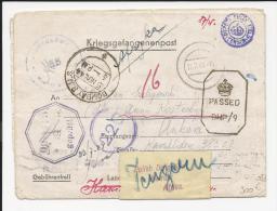LETTRE PRISONNIER DE GUERRE POLOGNE  AVEC CENSURE  PRISONNER OF WAR POLAND KRIGSGEFANGENENPOST  COVER WW2 39/45 - 1939-44: II Guerra Mondiale