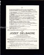 Jozef DELBAERE - Kortrijk 1876-1953 - Fam MAERTENS, De JONGH, Vanneste, Vandeputte, Laigneil, Carbon, De Wals, De Crop.. - Obituary Notices