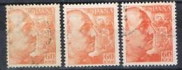 Tres Sellos Caudillo 60 Cts, Variedad Color, Num 1054-1054a-1054b º/* - 1889-1931 Reino: Alfonso XIII