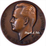 Monaco Médaille Rainier III Par P. Turin Bronze - Non Classés