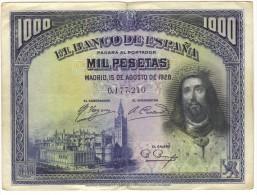 1000 Pesetas - Circulado - [ 1] …-1931 : Prime Banconote (Banco De España)