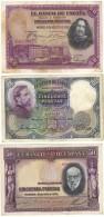 Lote De 3 Billetes De 50 Pesetas - Circulado - [ 1] …-1931 : Primeros Billetes (Banco De España)
