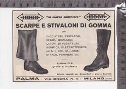 CO-836 MILANO PALMA HOOD SCARPE E STIVALONI DI GOMMA PUBBLICITA - Autres