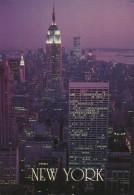 CPSM ETATS-UNIS - USA - New York - Twin Towers - Empire State Building - Manhattan Island - World Trade Center