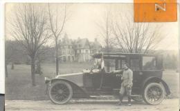 CARTE PHOTO , Pli En Bas à Gauche ( Voir Scan )voiture Avec Militaire - Guerre 1914-18