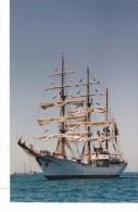 Batiment Navire Militaire Voilier Colombie Gloria  Signée Martinelli 1992 Couleur - Boats