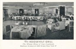 CPSM ETATS-UNIS - USA - New York - The Roosevelt Grill - The Winter Home Of Guy Lombardo Madison Avenue - Cafés, Hôtels & Restaurants
