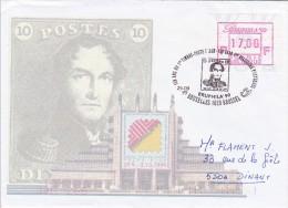 A00040 - Enveloppe FDC BRUPHILA 1020 Bruxelles Du 29-09-1999 - VA100 17F BRUPHILA - Postage Labels