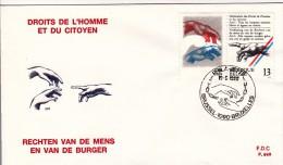 FDC N° 898 Ordi Du 10-8-1989 - COB 2327 - Cachet De 1090 Bruxelles - Droits De L'Homme Et Du Citoyen - 1,3€ - FDC