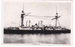 Batiment Militaire Marine Chili Croiseur Esmeralda 1896 + Historique Au Dos Coll J Havet - Boats