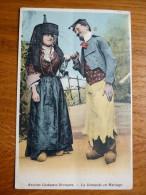 France, Sâone Et Loire,  Anciens Costumes Bressans. La Demande En Mariage - France