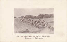 CPSM ESPERANTO Sun'kaj Akvobanoj - Insulo Esperanto Orehovo Bulgarujo - Esperanto