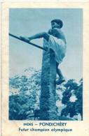 CALENDRIER ALMANACH RELIGIEUX 1958 IMAGE PIEUSE RELIGIEUSE HOLY CARD SANTINI PONDICHERY Futur Champion Olympique NAGOYA - Calendriers
