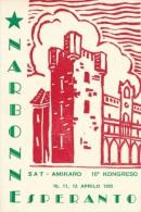 CPSM ESPERANTO Narbonne Sat Amikaro 10a Kongreso 1955 Esperanto - Esperanto