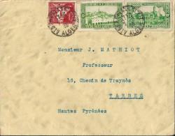 Enveloppe  -   Cachet   Départ    De   L ' Algérie     à  Destination  De     Tarbes   ( 65 )  N - Algérie (1962-...)