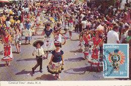 D19291 CARTE MAXIMUM MAXI CARD FD 1972 NETHERLANDS ANTILLES - CARNIVAL DANCING CP ORIGINAL - Carnival