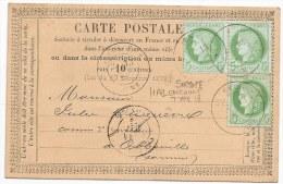 - Lettre - SOMME - HALLENCOURT - Càd T.18 S/Paire+un TP Cérès N°53 - 1876 - 1871-1875 Cérès