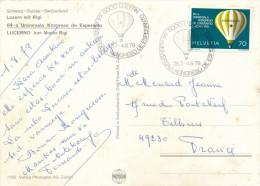 CPSM ESPERANTO Luzern 64a Universala Kongreso 1979 + Cachet + Timbres - Esperanto