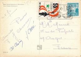 CPSM ESPERANTO Wien 55a Universala Kongreso 1970 + Cachet + Timbres - Esperanto