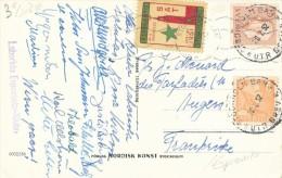 CPSM ESPERANTO Stokholmo 24a Universala Kongreso 1951 +  Timbre - Esperanto