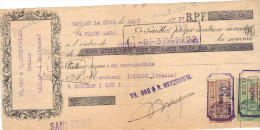 Lettre Change 5/3/1927 BRU & MEYZOUNIAL Grains SARLAT Dordogne Pour Gourdon Lot Timbre Fiscal - Lettres De Change