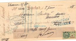 Lettre Change 8/6/1928 SIMEON SICART SARLAT Dordogne Pour Gourdon Lot Timbre Fiscal - Lettres De Change