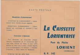 LORIENT -(56)- LA CAISSETTE LORIENTAISE- PORT DE PECHE-LORIENT.-------- PUB: BON DE COMMANDE...---------..... - Lorient