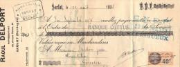 Lettre Change 12/8/1935 Raoul DELPORT Représentant SARLAT Dordogne Pour Gourdon Lot Timbre Fiscal - Lettres De Change