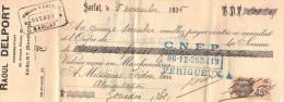 Lettre Change 5/11/1935 Raoul DELPORT Représentant SARLAT Dordogne Pour Gourdon Lot Timbre Fiscal - Lettres De Change