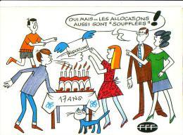 Carte Pétition: FETES DES MERES,  Mai 1981, Allocation Familiale - Fête Des Mères