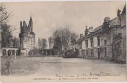 Cpa,1918,l´ Année De La 1 Grande Guerre,septmonts,aisne,le Chateau Trés Connu,coté Ouest,aisne
