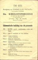 Kleine Affiche Stad Gistel - Ste Godelieve Processie 1962 - Manifesti