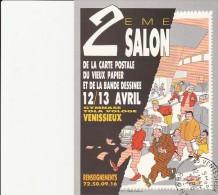 VENISSIEUX -2 EME SALON DE LA CARTE POSTALE -1986 - DESSIN DIRAT - NEMO - Collector Fairs & Bourses