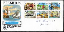 BERMUDA 1981 - Traditionen Auf Den Bermuda Inseln - MiNr.395-400 FDC - Bermuda