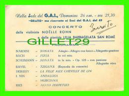 PROGRAMMES - NELLA SEDE DEL G.A.I. CONCERTO DELLA VIOLINISTA NOELLE ROHN - PROGRAMMA - - Programmes