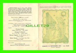 PROGRAMMES - TEATRO COMUNALE DELL'OPERA, 1 CONCERTO DELLA STAGIONE 1951-52 - MISCHA ELMAN & ERWIN HERBST - - Programmes