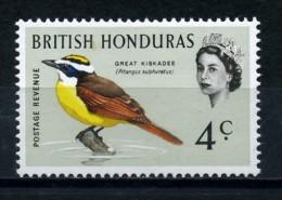 BRITISH  HONDURAS   1962    Various Designs  4c  Great  Kiskadee     MH - British Honduras (...-1970)