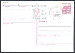 Germany Deutschland 1988 PS Card; FAUNA Bee Biene; Michelstadt - Bienenmarkt Slogan Cancelllation - Honeybees