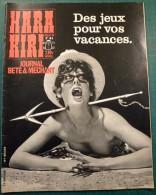Hara Kiri N°41 Juillet 1964 - Des Jeux Pour Vos Vacances - Wolinski Cabu Charlie Caricature Choron - Très Bon état - Humor
