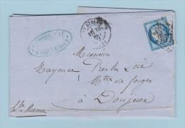 LETTRE DE ST DIZIER //  POUR DONJEUX  //  30 DEC 1873  //  ENTR LACOMBE AIME - 1849-1876: Klassik